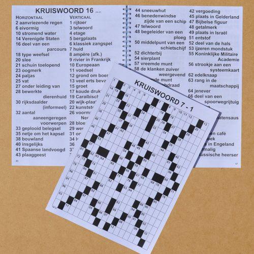 Kruiswoordpuzzel bijgesneden